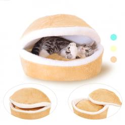 Warm Cat Hamburger Bed